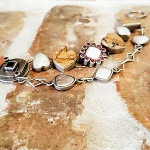 Mars & Valentine Gemstone Artisan Chain Bracelet